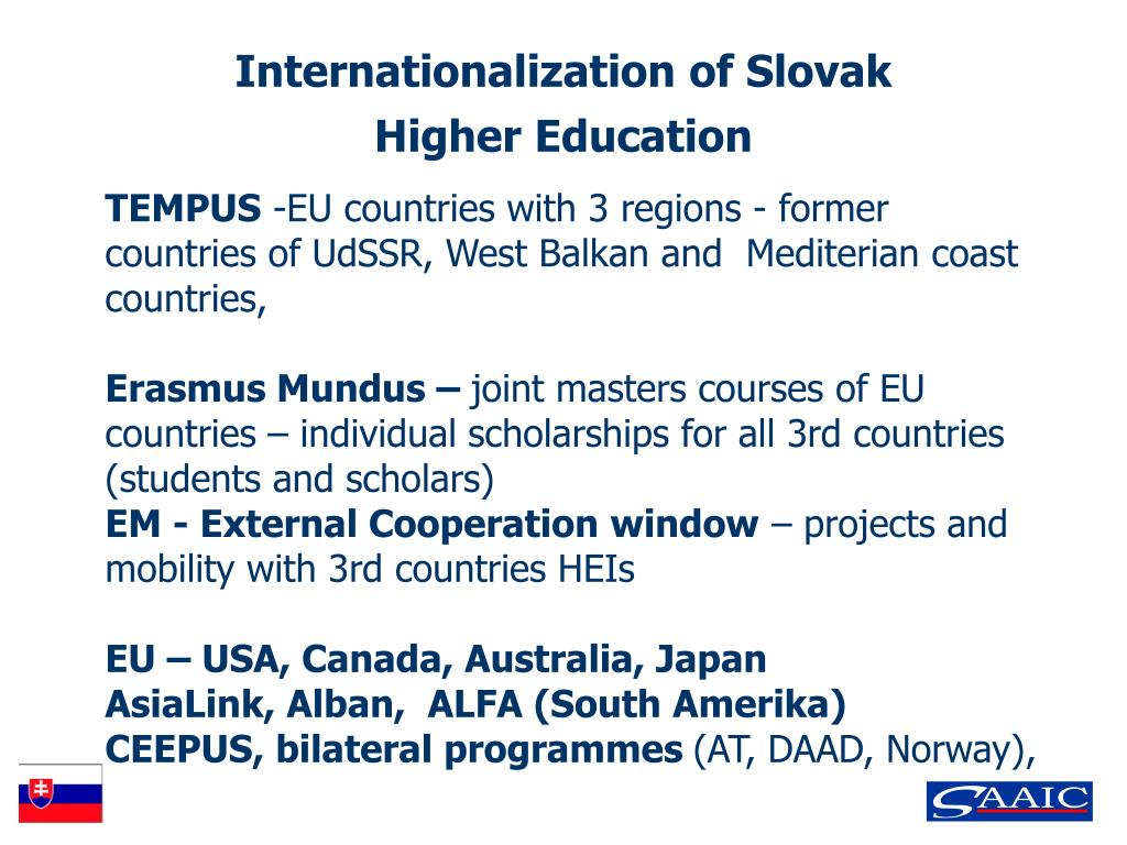 Internationalization of Slovak