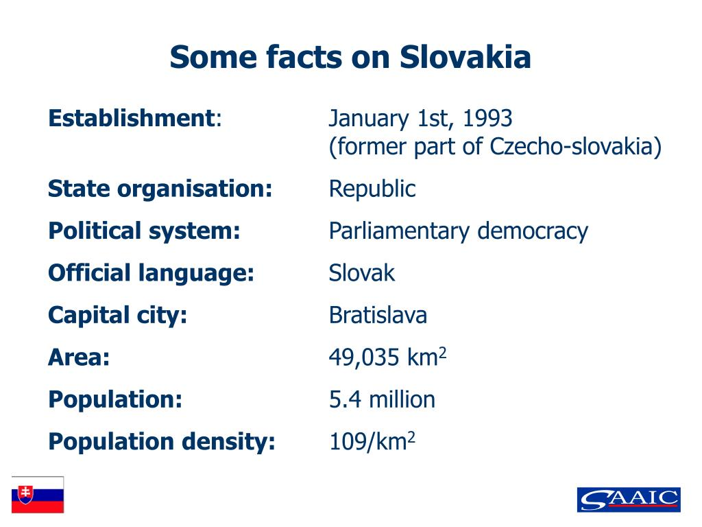 Some facts on Slovakia