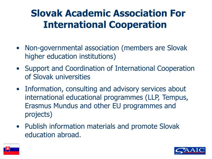 Slovak academic association for international cooperation