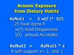 arsenic exposure from dietary habits