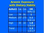 arsenic exposure with dietary habits