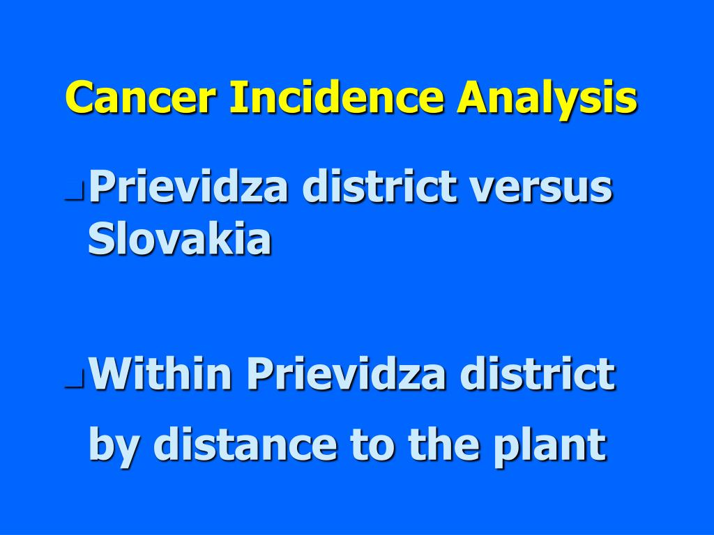Cancer Incidence Analysis