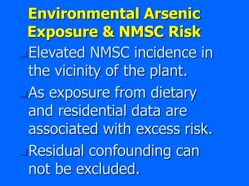Environmental Arsenic Exposure & NMSC Risk