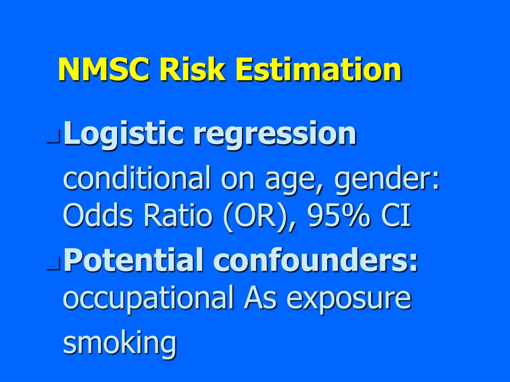 NMSC Risk Estimation