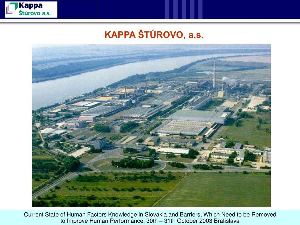 KAPPA ŠTÚROVO, a.s.