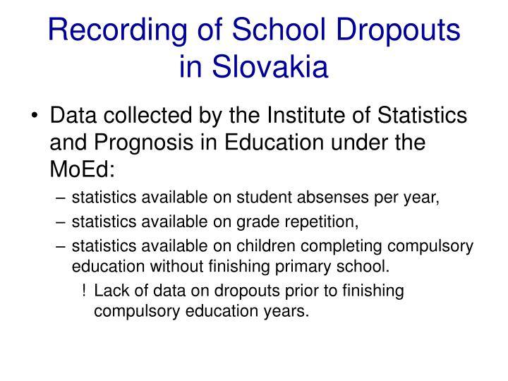 Recording of school dropouts in slovakia l.jpg