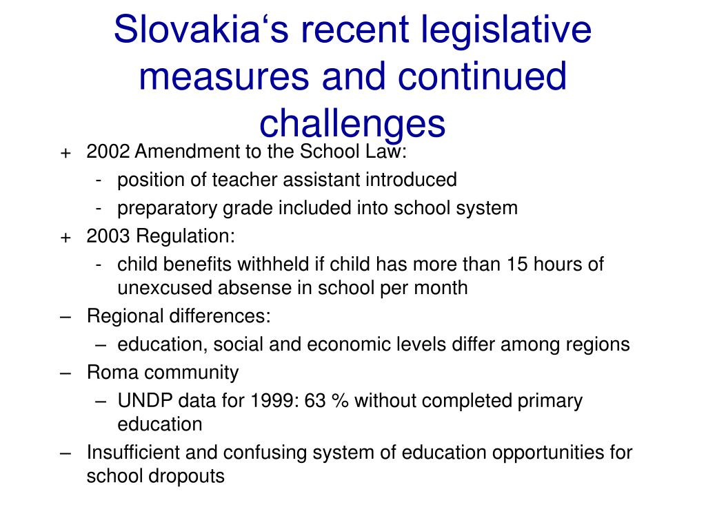 Slovakia's recent legislative measures and continued challenges