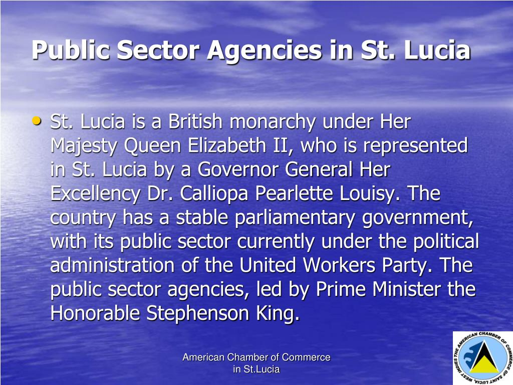Public Sector Agencies in St. Lucia