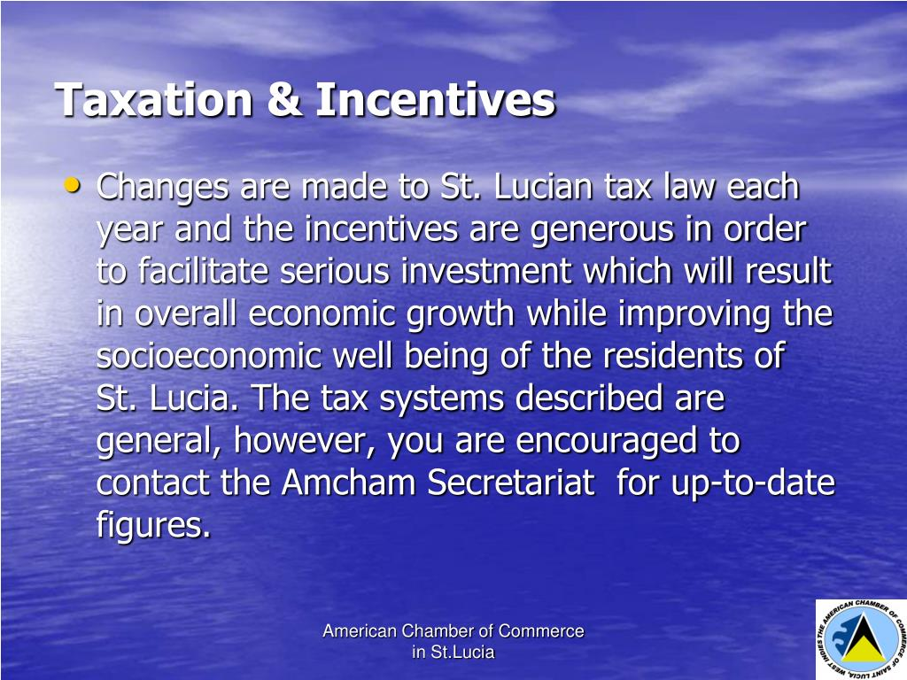 Taxation & Incentives