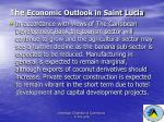 the economic outlook in saint lucia