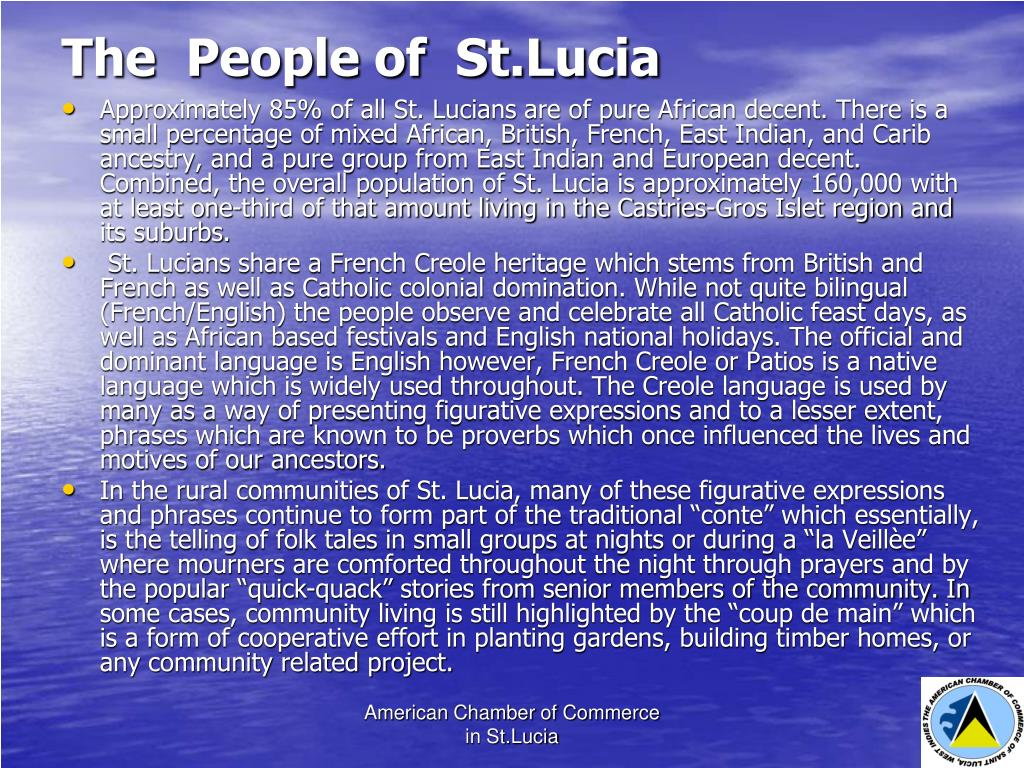 The  People of  St.Lucia