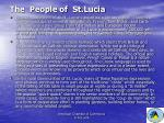 the people of st lucia