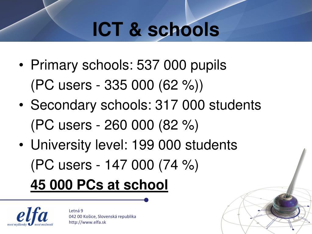 ICT & schools