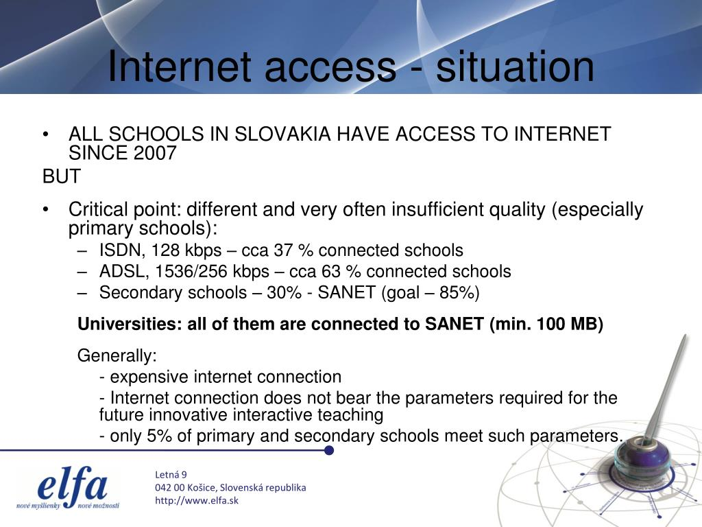 Internet access - situation