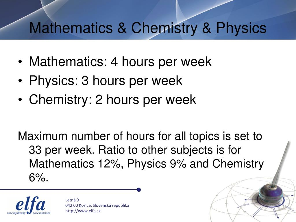 Mathematics & Chemistry & Physics