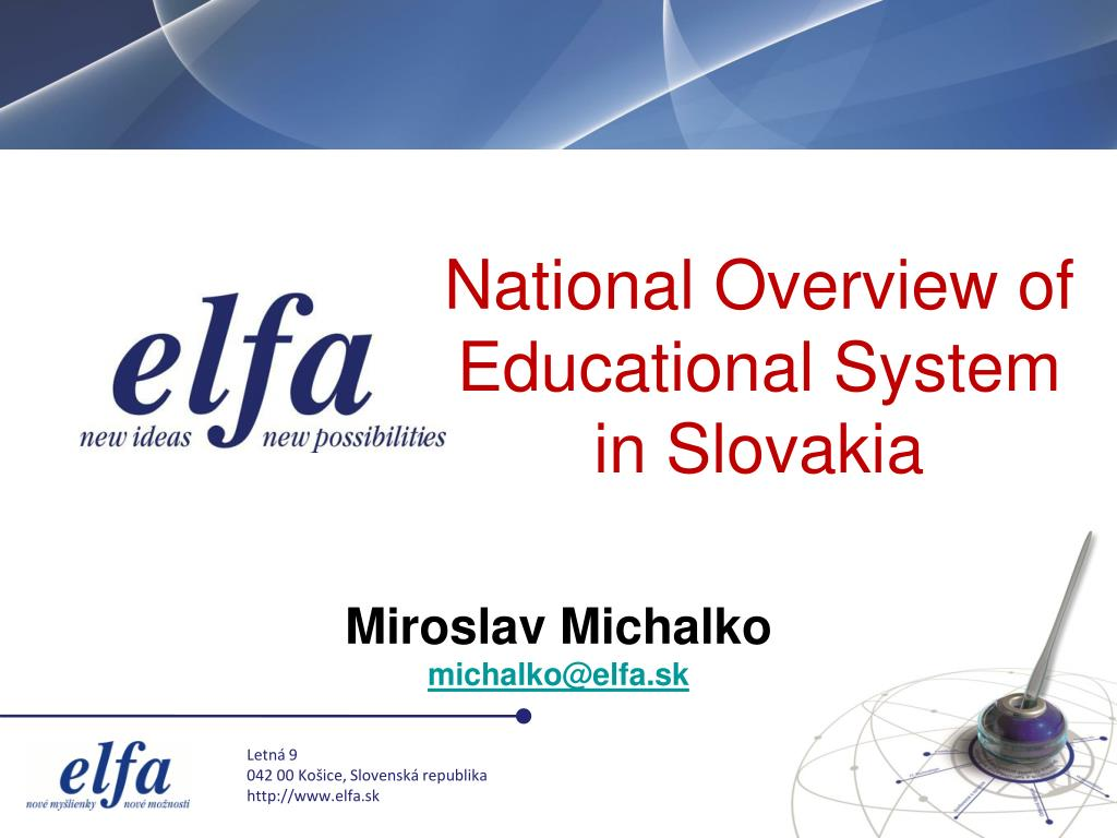 National Overview of Educational System in Slovakia