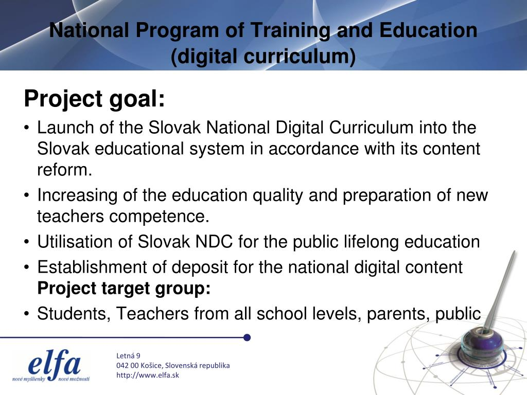 National Program of Training and Education