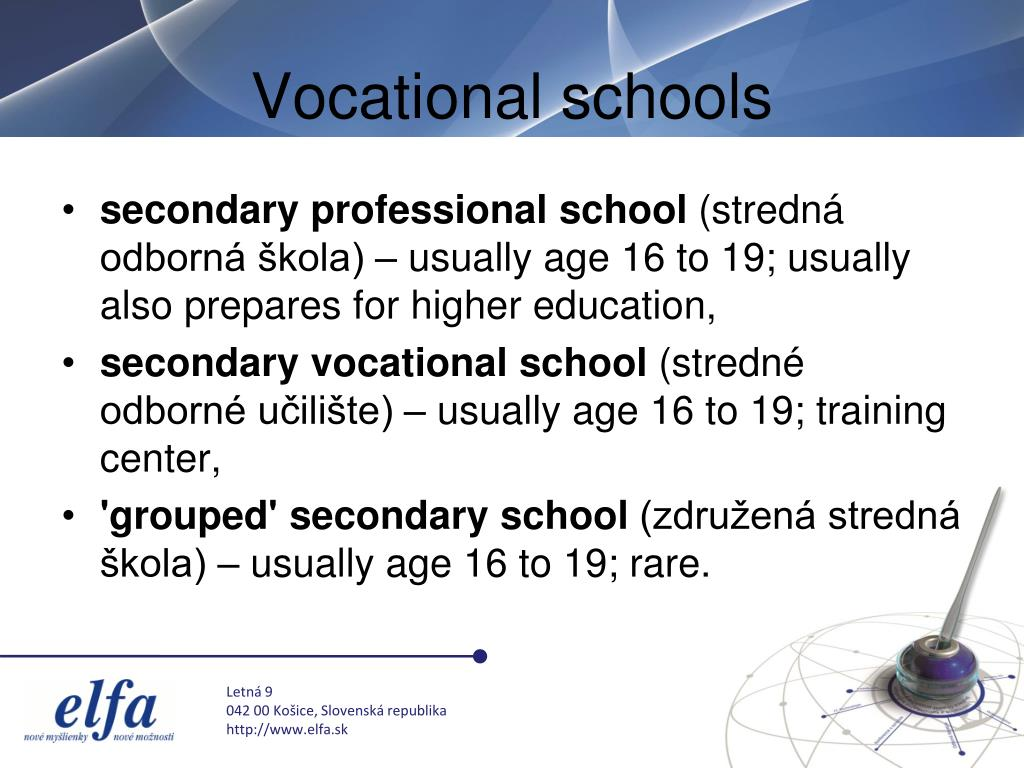 Vocational schools