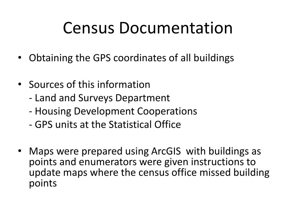 Census Documentation