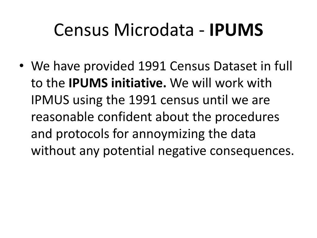 Census Microdata -
