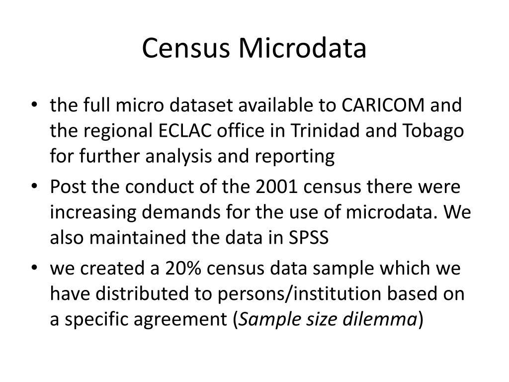 Census Microdata