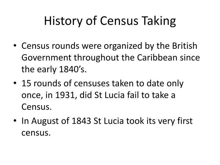 History of census taking