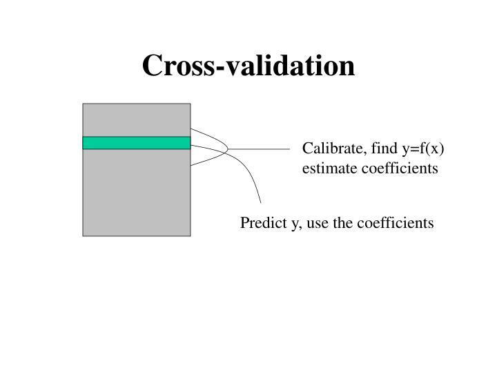 Calibrate, find y=f(x)