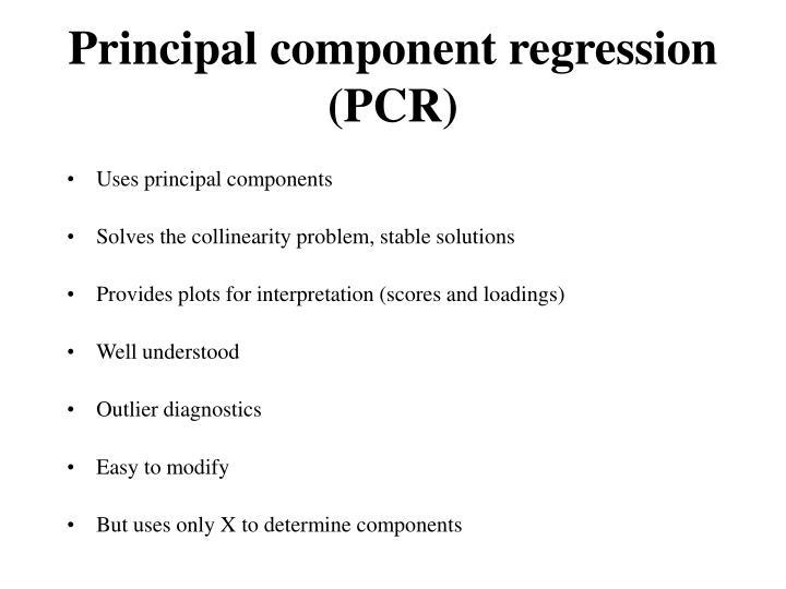 Principal component regression (