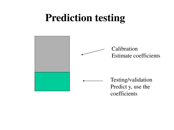 Prediction testing