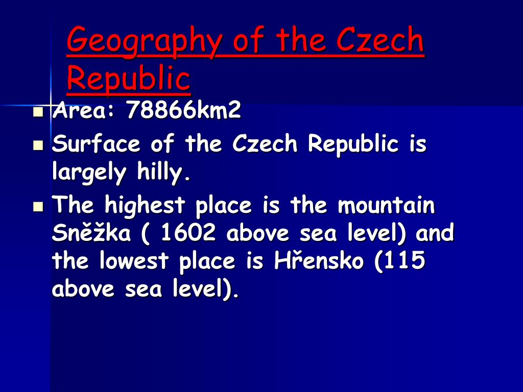 Geography of the Czech Republic
