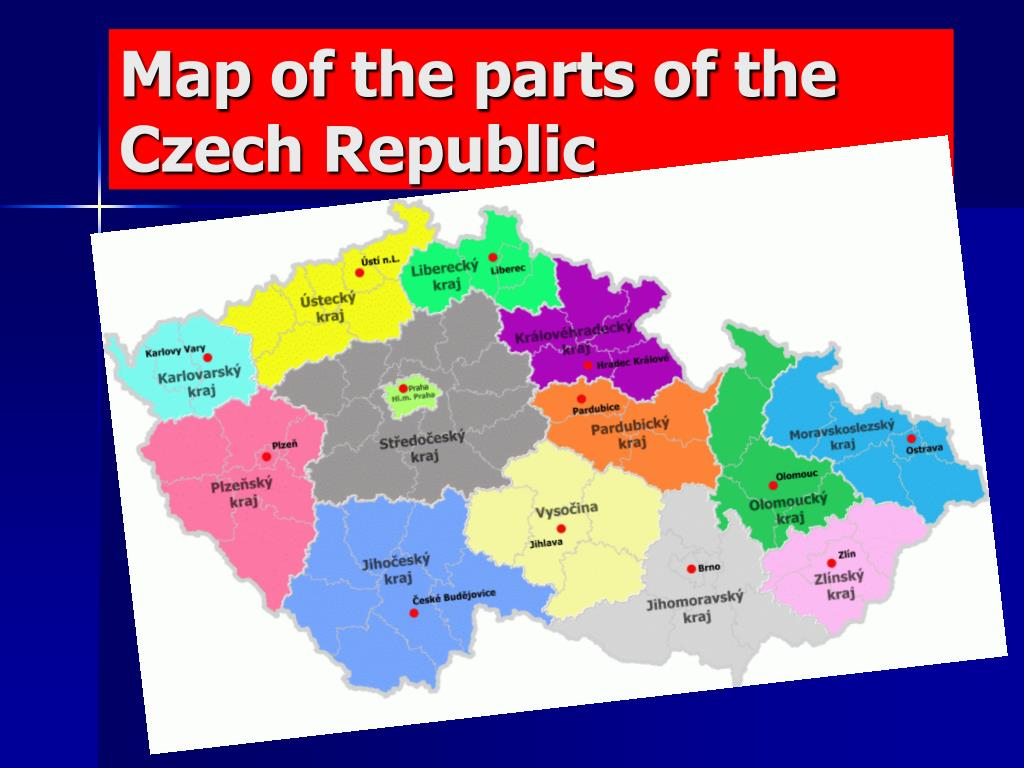 Map of the parts of the Czech Republic