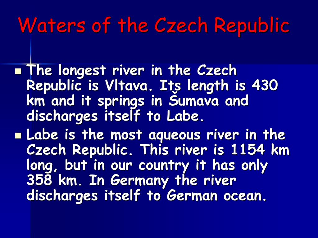 Waters of the Czech Republic