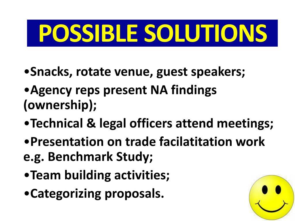 Snacks, rotate venue, guest speakers;