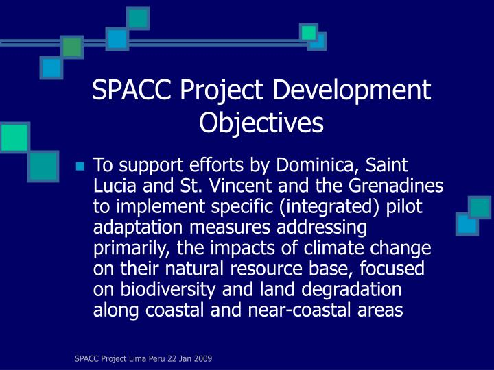 Spacc project development objectives