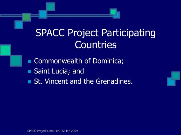 Spacc project participating countries