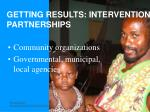 getting results intervention partnerships
