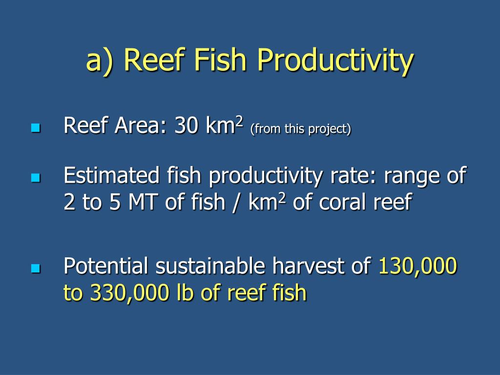a) Reef Fish Productivity