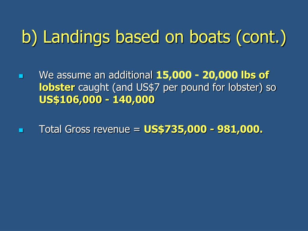 b) Landings based on boats (cont.)