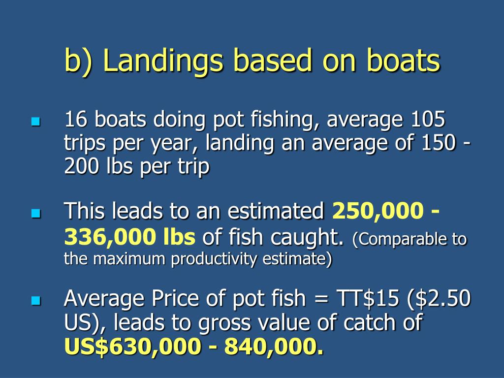 b) Landings based on boats