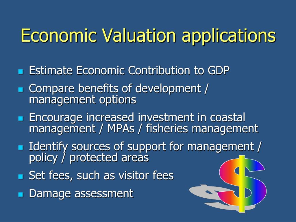 Economic Valuation applications