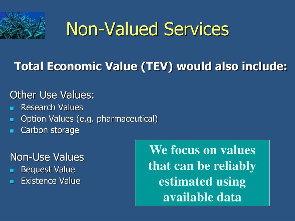 Non-Valued Services