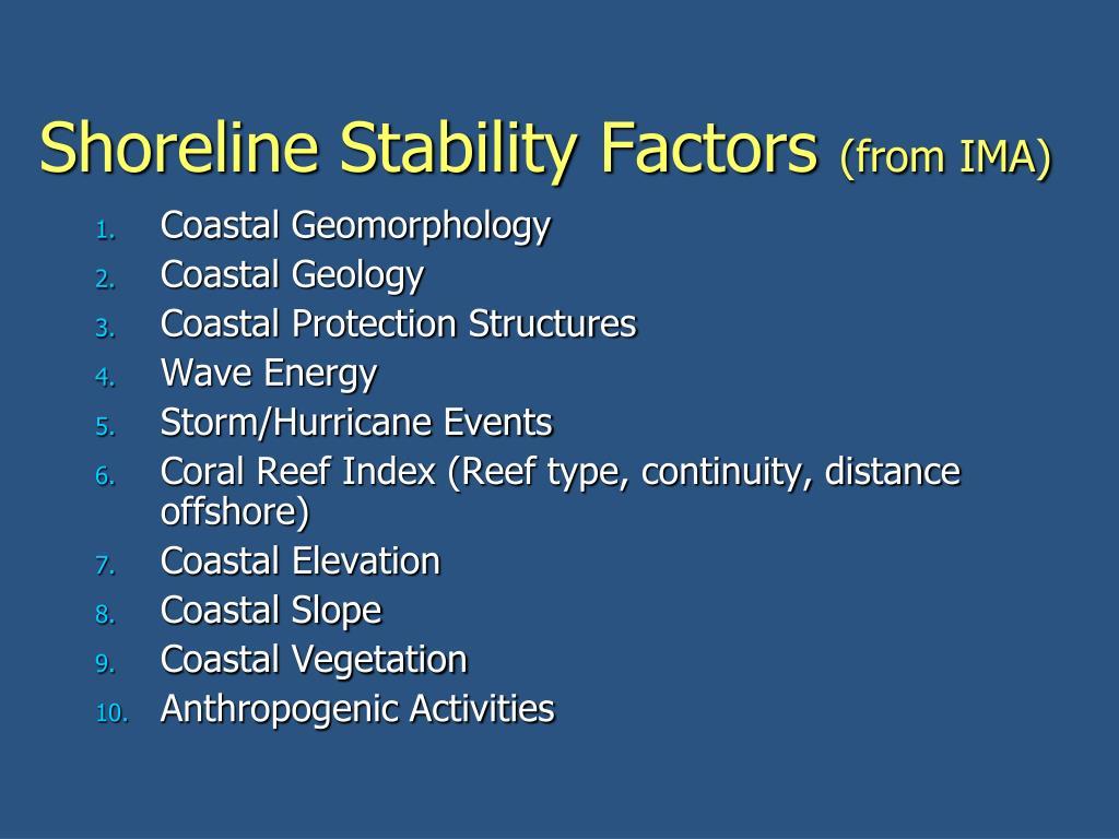 Shoreline Stability Factors
