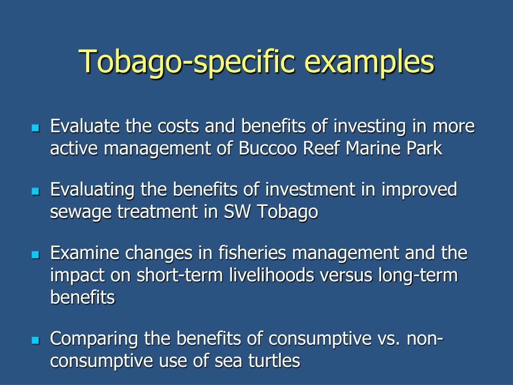 Tobago-specific examples