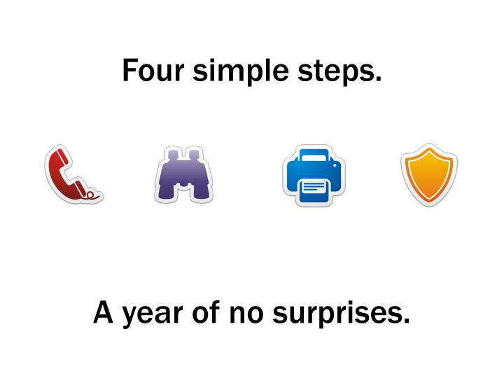 Four simple steps.
