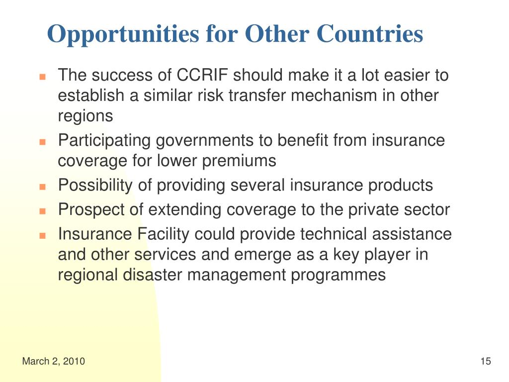 Opportunities for Other Countries