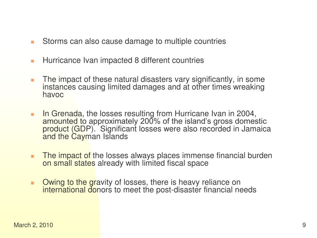 Storms can also cause damage to multiple countries