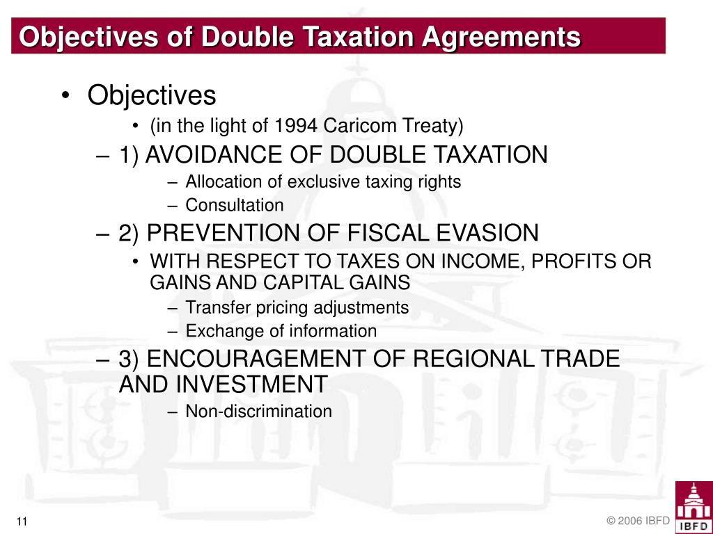 Objectives of Double Taxation Agreements
