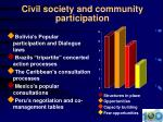 civil society and community participation