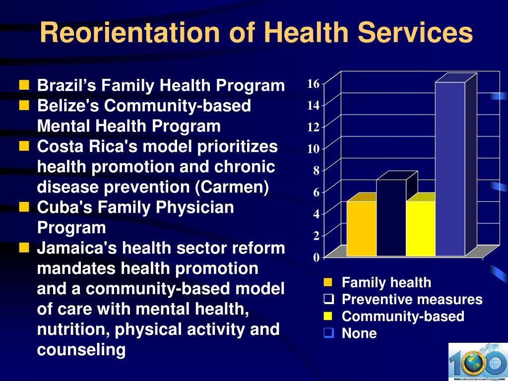 Reorientation of Health Services