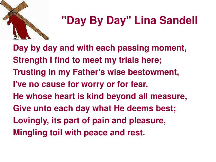"""Day By Day"" Lina Sandell"